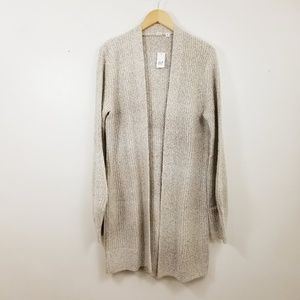 Gap MT M Textured Open Front Cardigan Marled NWT